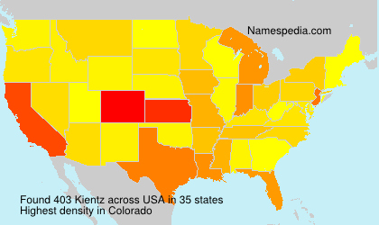 Surname Kientz in USA