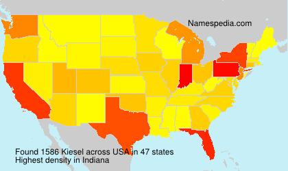 Surname Kiesel in USA