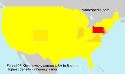 Familiennamen Kieselowsky - USA