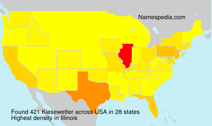 Familiennamen Kiesewetter - USA