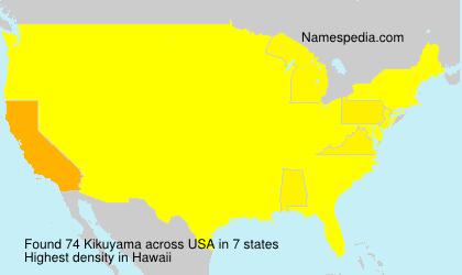 Surname Kikuyama in USA