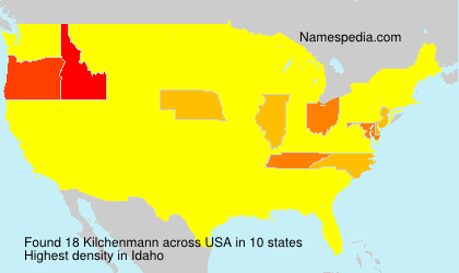 Surname Kilchenmann in USA