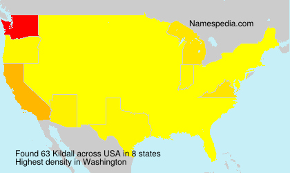 Surname Kildall in USA