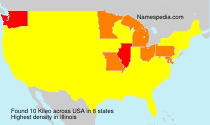 Surname Kileo in USA