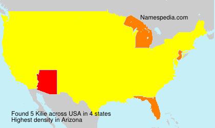 Surname Kilie in USA