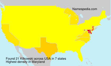 Surname Kilkowski in USA