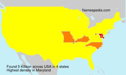 Surname Killson in USA