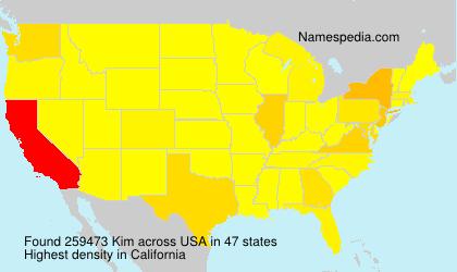Familiennamen Kim - USA