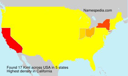 Surname Kiml in USA