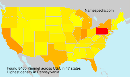 Surname Kimmel in USA