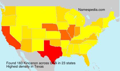 Surname Kincanon in USA