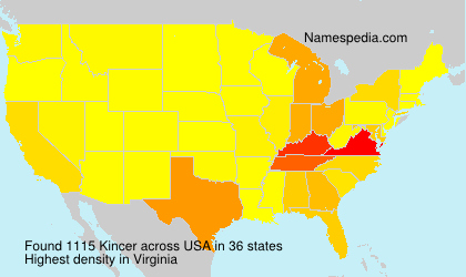 Surname Kincer in USA