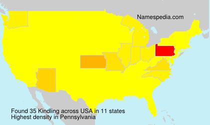 Familiennamen Kindling - USA