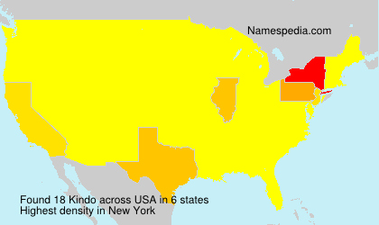 Surname Kindo in USA