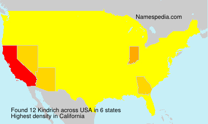 Surname Kindrich in USA