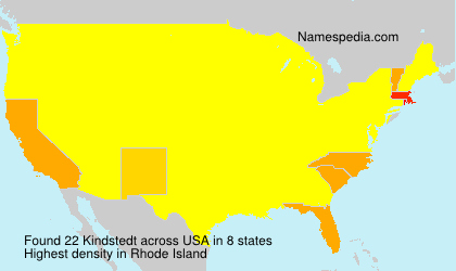 Surname Kindstedt in USA