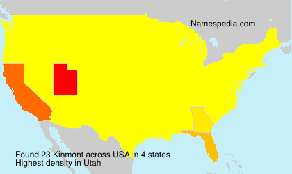 Surname Kinmont in USA