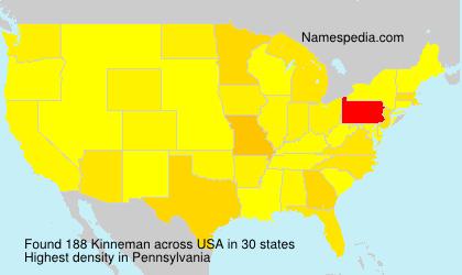 Surname Kinneman in USA