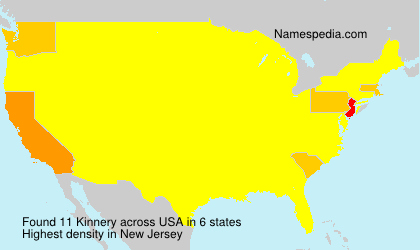 Surname Kinnery in USA