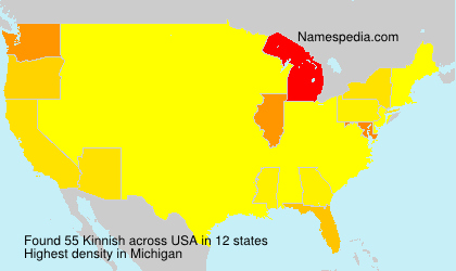 Surname Kinnish in USA