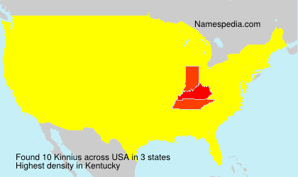 Surname Kinnius in USA