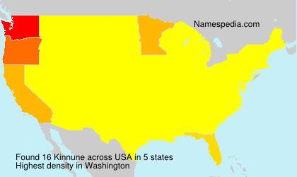 Familiennamen Kinnune - USA