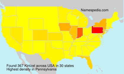 Surname Kintzel in USA