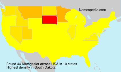 Surname Kirchgasler in USA