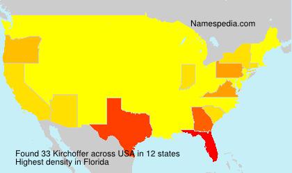 Familiennamen Kirchoffer - USA