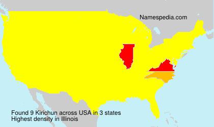 Surname Kirichun in USA