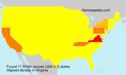 Familiennamen Kirillin - USA