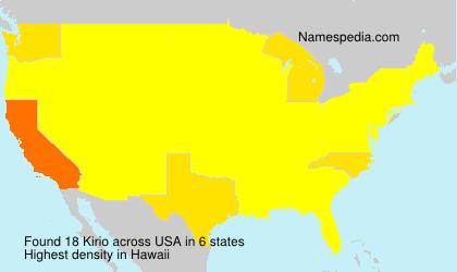 Surname Kirio in USA