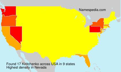 Familiennamen Kiritchenko - USA