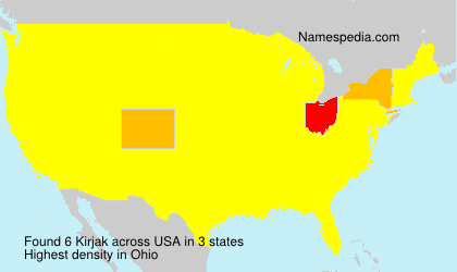 Familiennamen Kirjak - USA