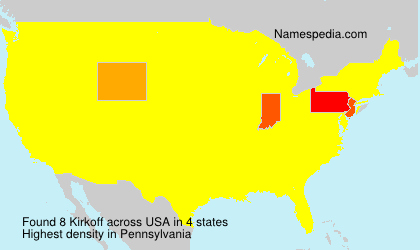 Familiennamen Kirkoff - USA