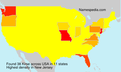 Surname Kirse in USA