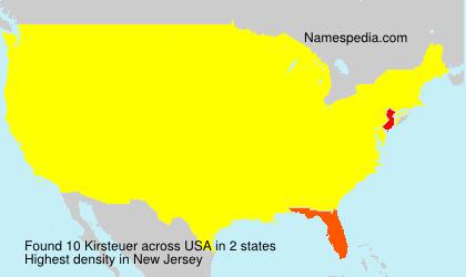 Familiennamen Kirsteuer - USA