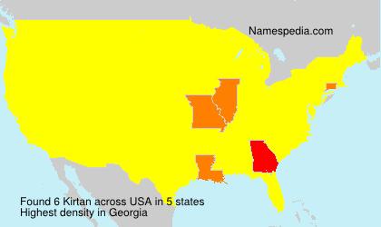 Familiennamen Kirtan - USA