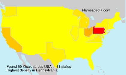 Surname Kisak in USA