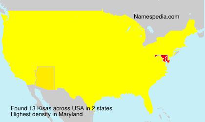 Surname Kisas in USA