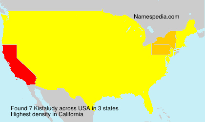Surname Kisfaludy in USA