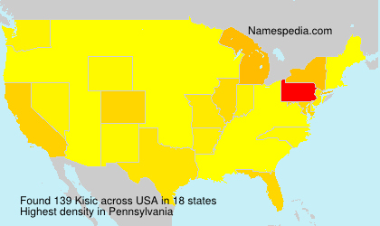 Surname Kisic in USA