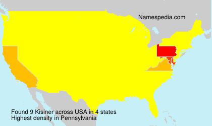 Surname Kisiner in USA