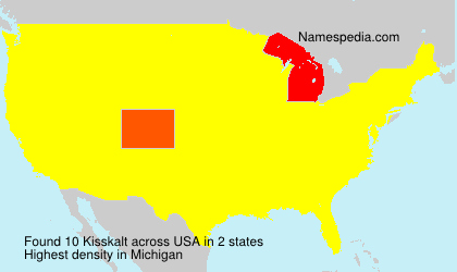 Surname Kisskalt in USA