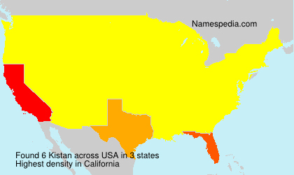 Surname Kistan in USA