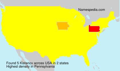 Surname Kistanov in USA