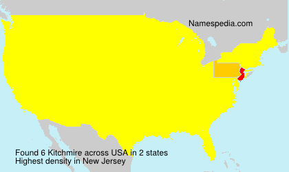 Familiennamen Kitchmire - USA