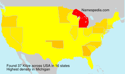 Surname Kitze in USA