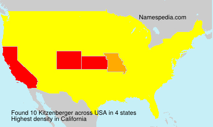 Surname Kitzenberger in USA