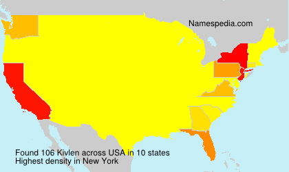 Surname Kivlen in USA